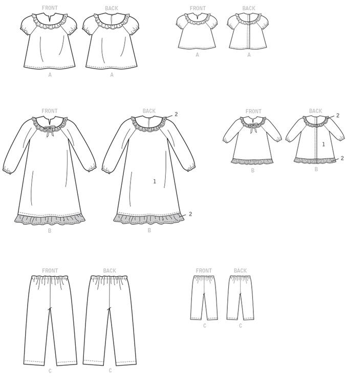 Kwik Sew Pyjamas barn och dockkläder  Ellie Mae design