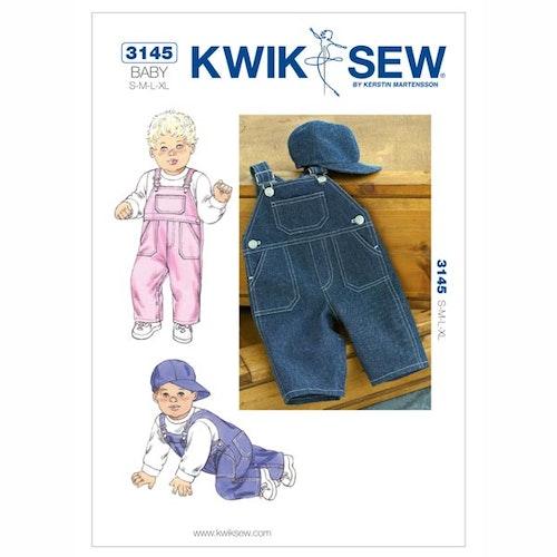 Kwik Sew 3145 Hängslebyxa Barn