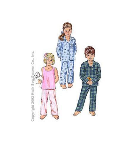 Symönster Kwik Sew 3126 - Pyjamas - Barn
