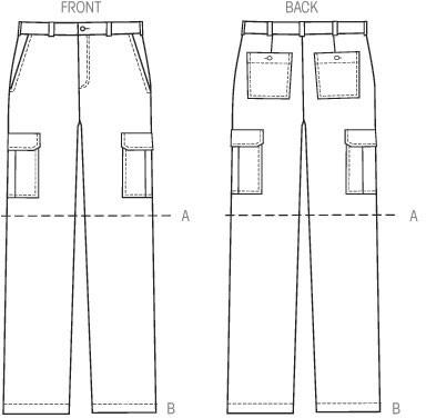 KWIK SEW K4045 Byxa Shorts Herr