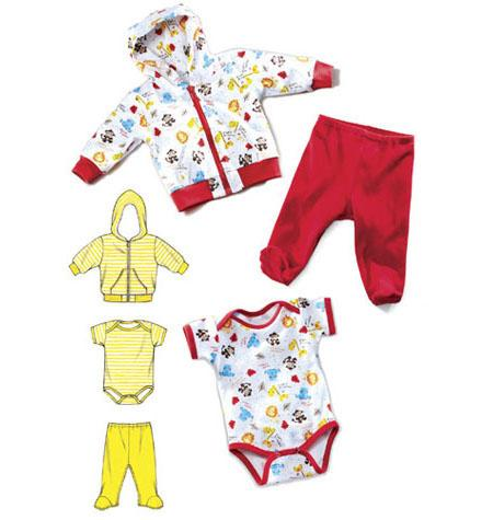 Kwik Sew 3811 - Top Byxa Jacka Jumpsuit - Baby
