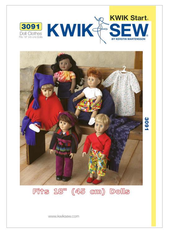 Kwik Sew 3091 - Hobby dockkläder