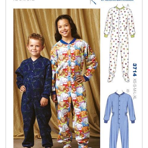 Kwik Sew 3714 Pyjamas - Barn