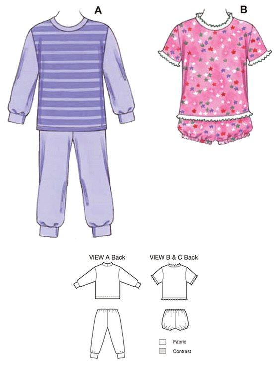 Kwik Sew 3510 - Pyjamas - Barn