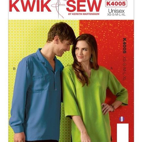 Kwik Sew 4005 - Blus Skjorta - Dam Herr