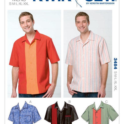Kwik Sew k3484- skjorta - herr