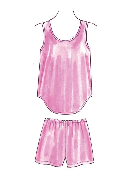 Kwik Sew K3645 - Dam - trosa underklänning nattlinne