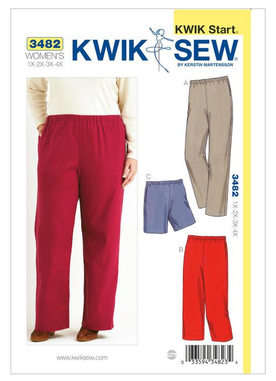 KWIK SEW k3482 Dam 1XL-4XL Byxa