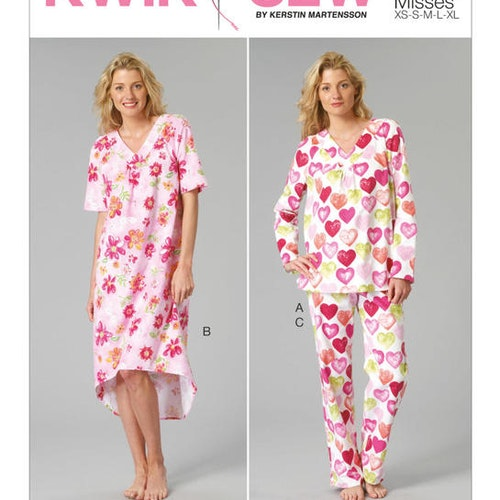 Kwik Sew k5089 Dam Nattlinne, Pyjamas
