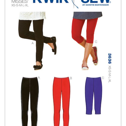 Kwik Sew k3636 Dam Leggings
