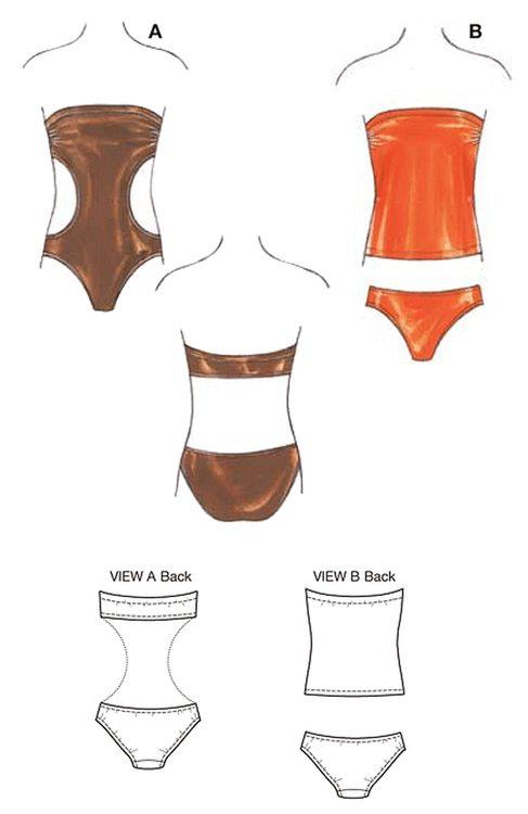 Kwik Sew k3608 Dam Baddräkt, bikini