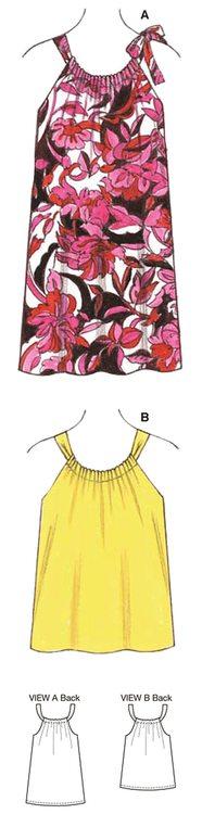 Kwik Sew k3610 Dam Top, klänning