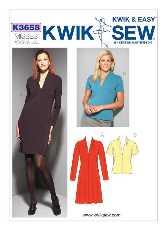 Kwik Sew k3658 Dam Top, klänning