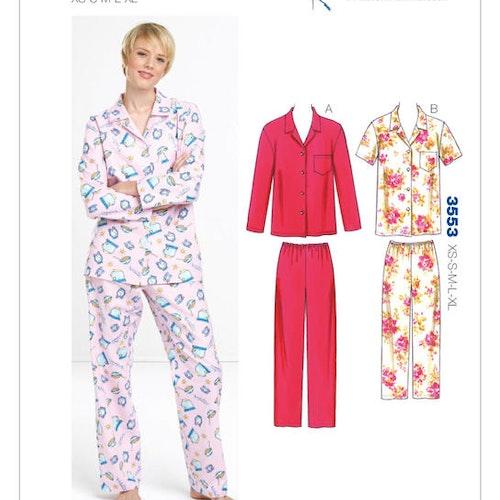 Kwik Sew k3553 Dam Pyjamas 2-delad