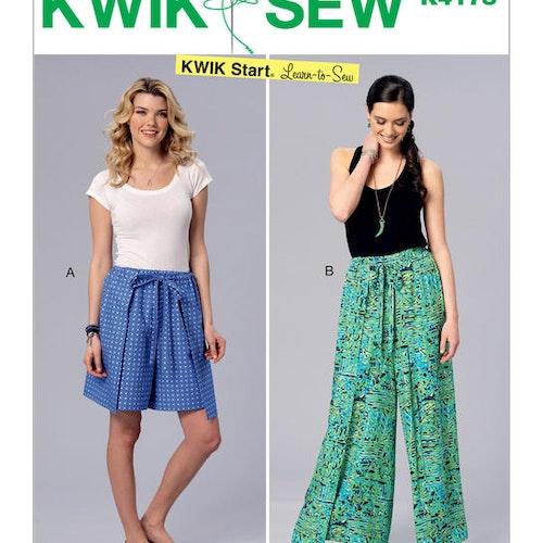 Kwik Sew k4178 Dam Lär dig sy omlott Byxor Shorts