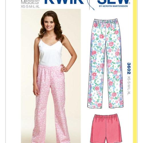 Kwik Sew k3602 Dam Lär dig sy Pyjamasbyxor långa och korta