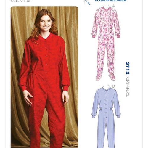 Kwik Sew k3712 Dam Linne Pyjamas One piece