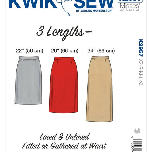Kwik Sew k2957 Dam Kjol