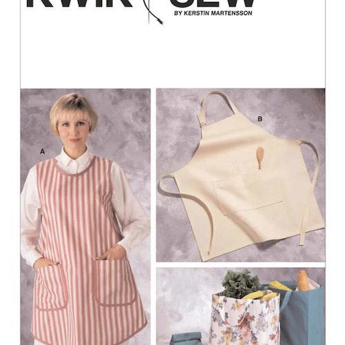 Kwik Sew k2191 Vuxen Förkläden Shoppingväska