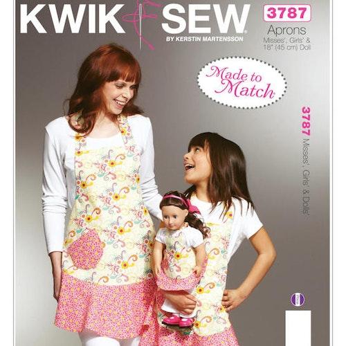 Kwik Sew k3787 Vuxen Barn Docka Förkläde