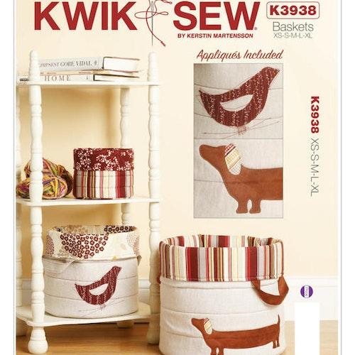 Kwik Sew k3938 Inredning Inredning Korgar
