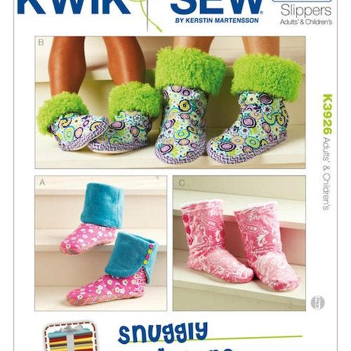 Kwik Sew k3926 Pyssel &Presenter Sköna Tofflor Vuxen Barn
