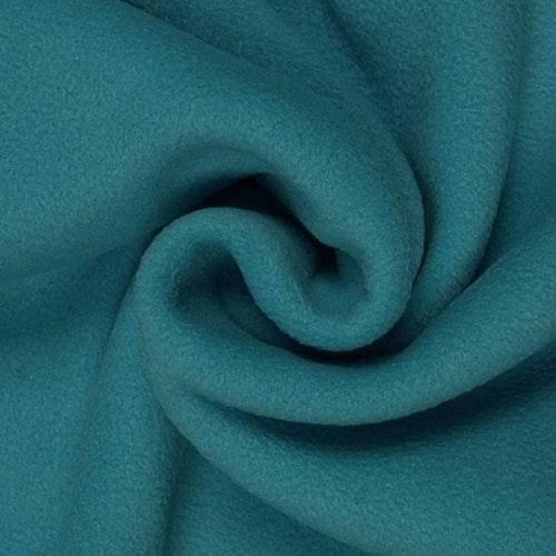 Fleece Polyester Mörkturkos