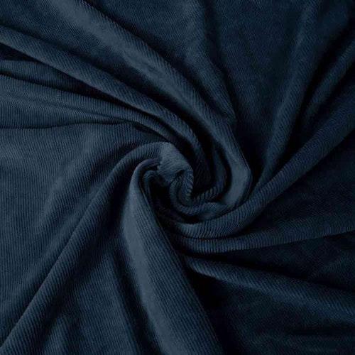 Smalspårig manchestervelour - Mörkblå