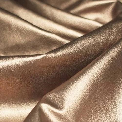 Konstskinn / galon / läder - Guld