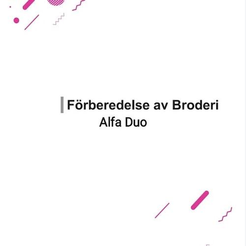 Alfa Duo sy och broderi Symaskin - Svensk manual, PDF , Andra HALVAN av manualen i ett större filformat, del 2