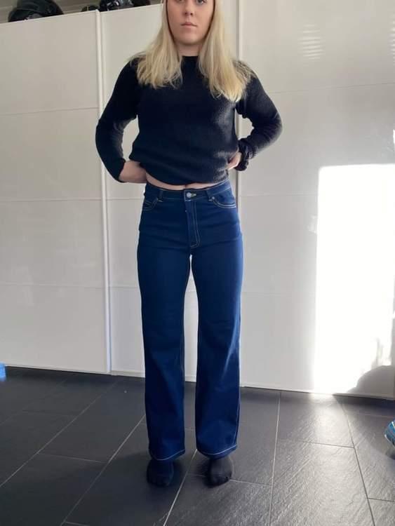 SUPER stretchjeans - mörkblå
