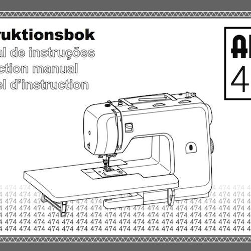Alfa Hogar 474 Heavy Duty Symaskin - Svensk manual, PDF
