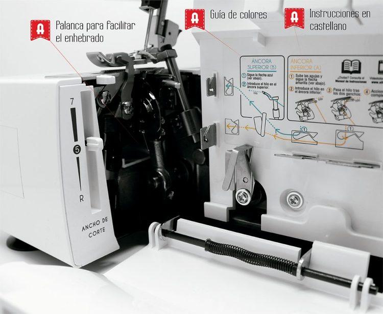 Alfa Hogar Overlock 8707 Remelladora 135 watt