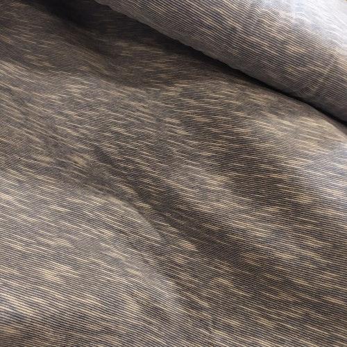 Bomullstrikå - Organic Tät slub gråblå