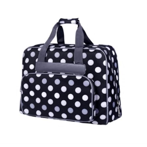Baby Snap Symaskins väska Svart/Vit med Prickar