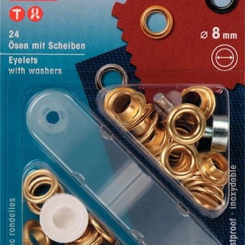 """Öljetter 24-pack """"guld"""" 541374 8mm"""