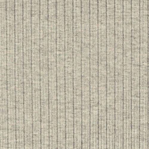 Bomullstrikå, RECYCLE 5x5 rib ljusgrå Melerad