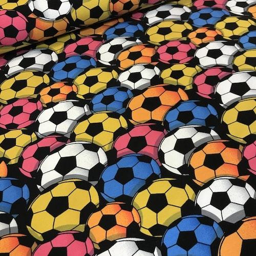 Färgglada fotbollar - bomullstrikå