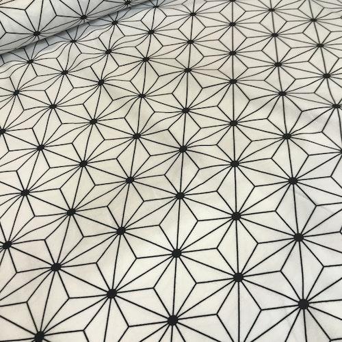 Hexagon bruten vit - bomullstrikå