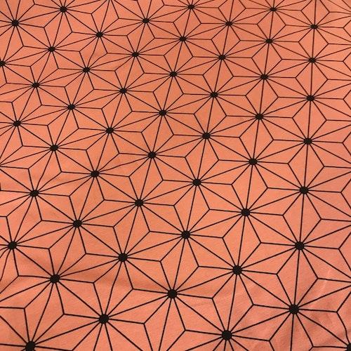 Hexagon mörk gammalrosa - bomullstrikå