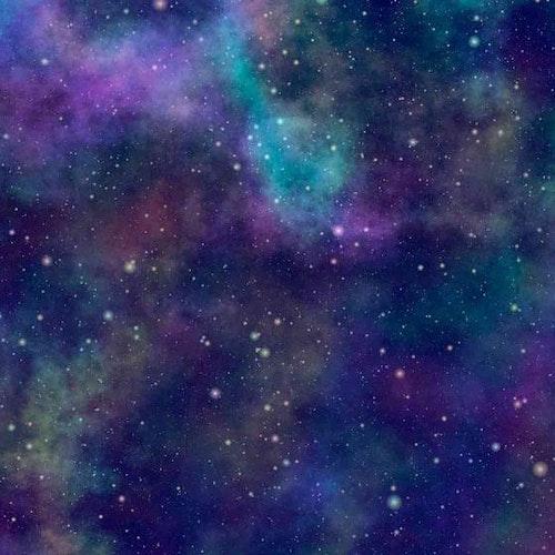 Bomullstrikå - Stjärnhimmel galaxy lila