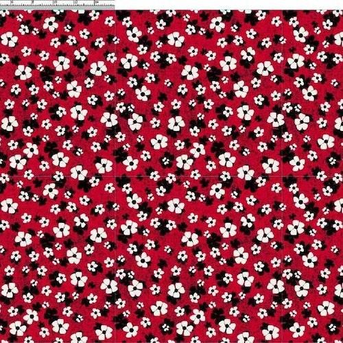 French terry  Viskos - Små blommor