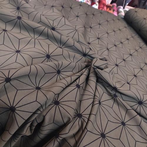 Hexagon mörkmilitär - bomullstrikå