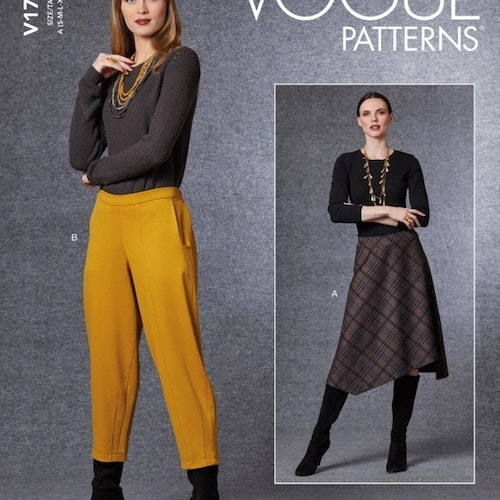 Vogue patterns Dam Byxa Kjol S-XXL V1730