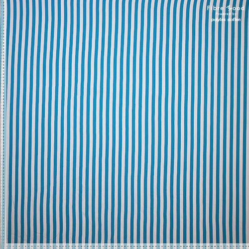 Fibre mood Kollektion 13 - Bomulls ränder blå/vit Paulette