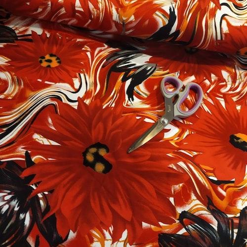 Bomullstrikå - Röda blommor
