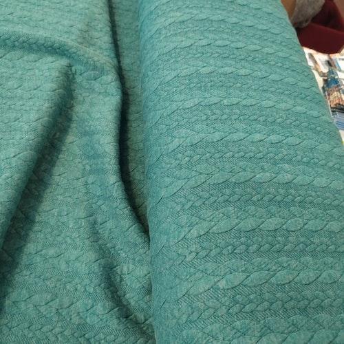 Jaquard - Kabelstickad Emerald