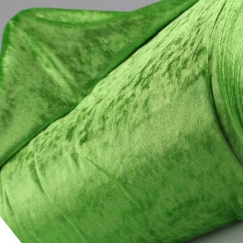 Velour av polyester, krossad lime