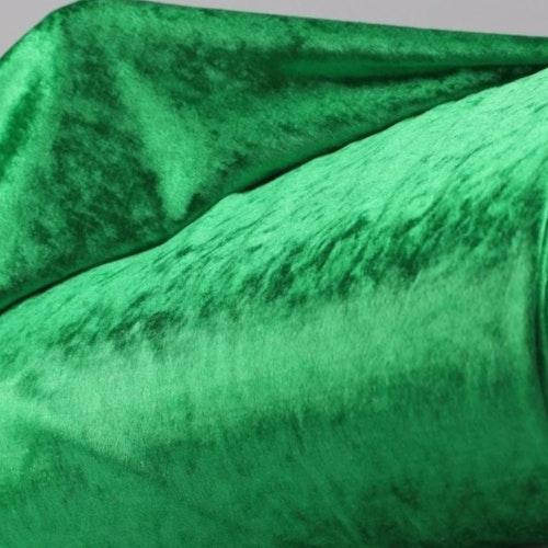 Velour av polyester, krossad klargrön