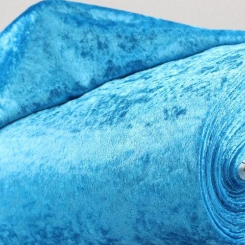 Velour av polyester, krossad turkos